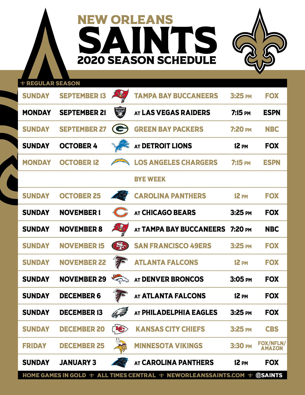 Saints Football Watch Parties!