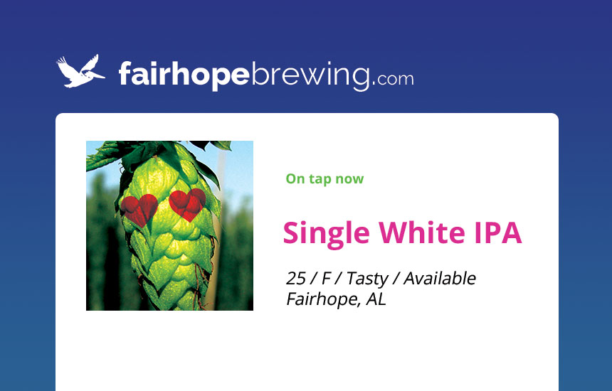 Single White IPA
