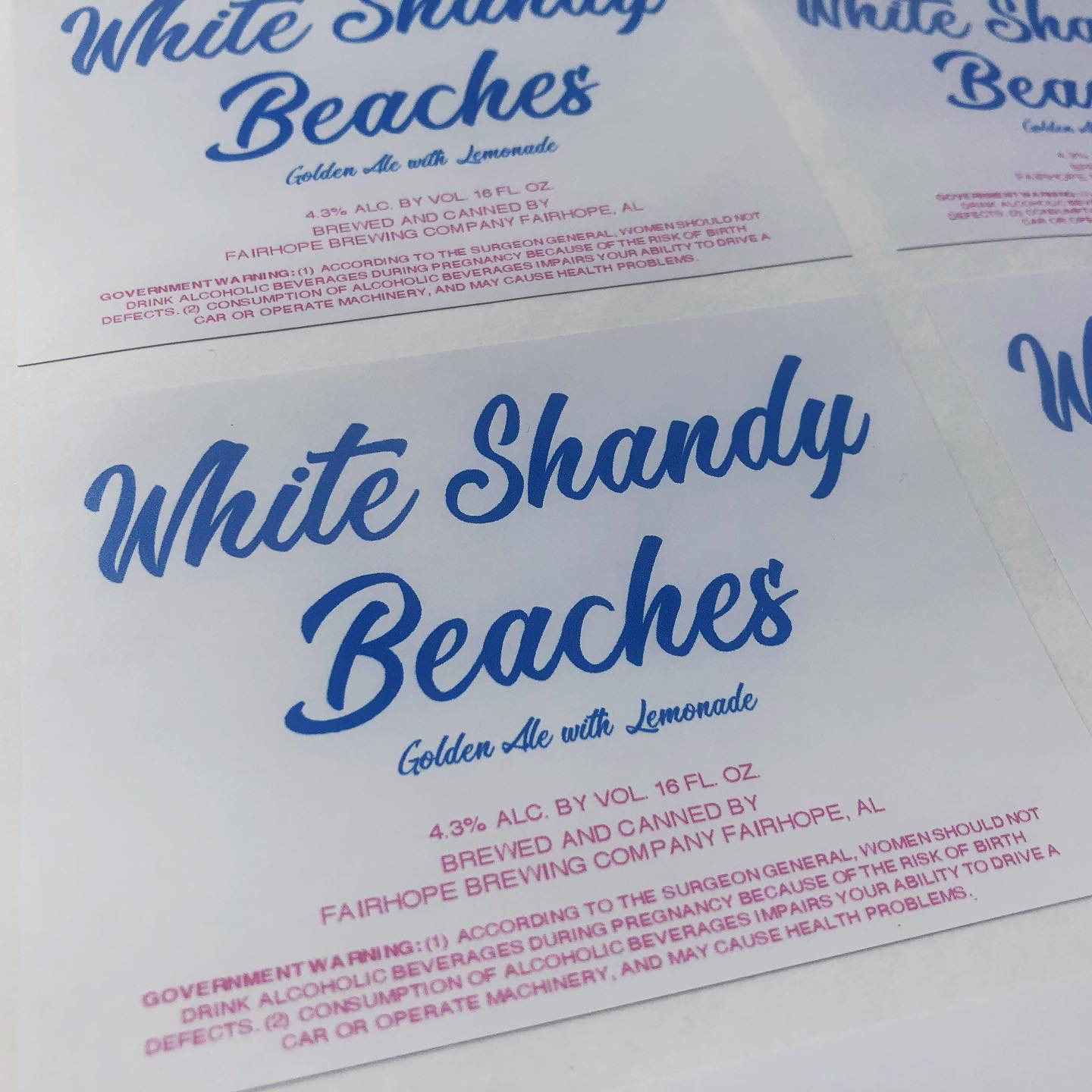 White Shandy Beaches